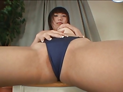 Shaved Asian gets some therapy