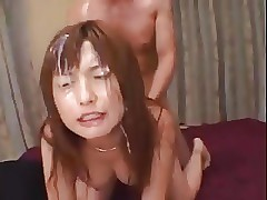 Japanese girl fucked and bukkake