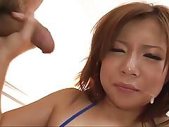 Konatsu Aozona works two dicks in her mouth