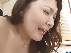 Busty milf, Hinata Komine, enjoys strong cock in her twat