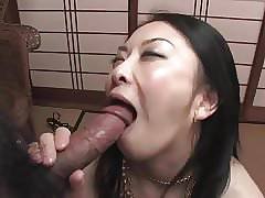 Japanese MILF Fucked in Hairy Pussy