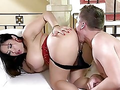 big titted asian milf hottie gets assfucked hard